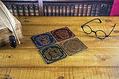 Suporturi pahar - Harry Potter Hogwarts Houses V2, 4buc