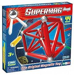Supermag,Maxi,One Color-Set constructie,magnetic,rosu,44pcs,+3Y