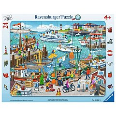 Puzzle Ravensburger - O zi in port, 24 piese