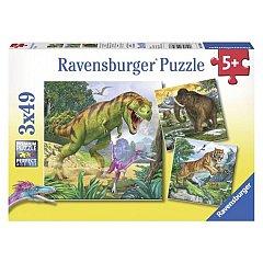 Puzzle Ravensburger - Dinozauri, 3x49 piese