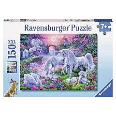 Puzzle Ravensburger - Unicorni la apus, 150 piese