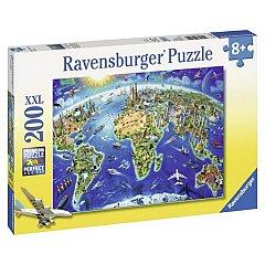 Puzzle Ravensburger - Harta lumii, 200 piese