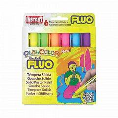 Tempera solida,PlayColor,5g,Fluo,6b/set