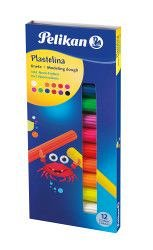 Plastilina Pelikan,fluorescenta,12culori/set