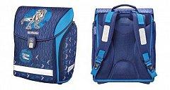 Ghiozdan Midi,38x32x22cm,Blue Dino
