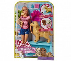 Papusa Barbie,family,catelusi si accesorii,30cm
