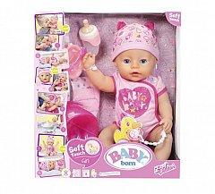 Papusa Zapf Baby Born - Papusa interactiva, corp moale, fetita, 43cm