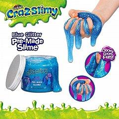 Crazslimy,slime glitter,albastru,355ml