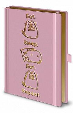 Caiet A5 premium Pusheen (Eat.Sleep.Eat.Repeat)