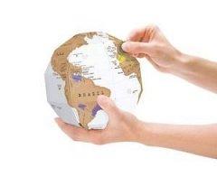 Glob pamantesc cu harta razuibila Scratch Globe