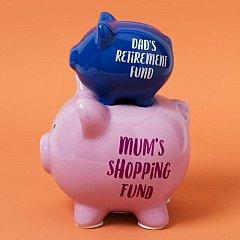 Pusculita ceramica,dubla,Mum&Dad's