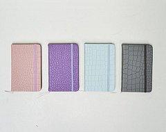 Agenda 9x14cm,elastic,imitatie sarpe,div.culori