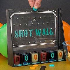 Joc petrecere PARTY! Shot Wall, cu 6 pahare + 3 monezi
