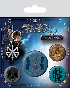 Set 5 insigne Fantastic Beasts The Crimes of Grindelwald