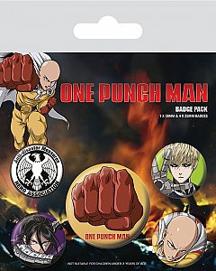Set 5 insigne One Punch Man (Destructive)