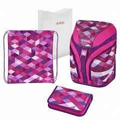 Ghiozdan echipat Motion Plus,Pink Cubes
