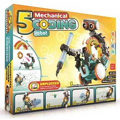 Kit educational STEM - Robot 5in1 cu programare mecanica