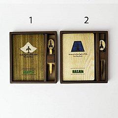 Agenda lemn 13x18.5cm,68file,dict/velina