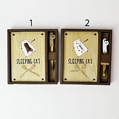 Agenda lemn 13x18.5cm,Sleeping Cat,dict/velina