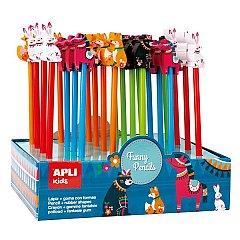 Creion cu radiera ,Fantasy Animals,div. culori