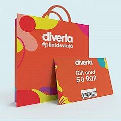 Gift card 50 RON,orange