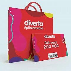 Gift card 200 RON,rosu