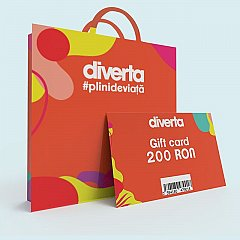 Gift card 200 RON,orange