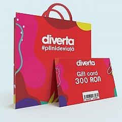 Gift card 300 RON,rosu