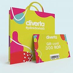 Gift card 300 RON,galben
