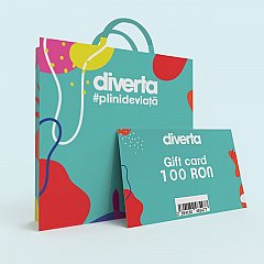 Gift card 100 RON,turquoise