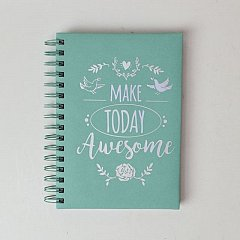 Agenda A5,50f,Today awesome,dict,verde