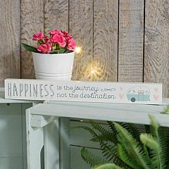Love Life' Thin Mantel Plaque - Happiness Is...