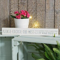 Love Life' Thin Mantel Plaque - Excuse The Mess