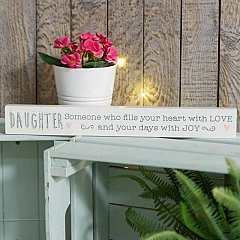 Love Life' Thin Mantel Plaque - Daughter