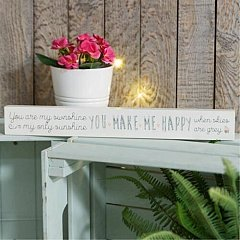 Love Life' Thin Mantel Plaque - My Sunshine