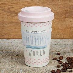 Love Life Bamboo Travel Mug 400ml - Loveliest Mummy