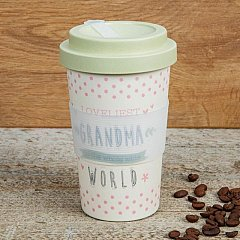 Love Life Bamboo Travel Mug 400ml - Loveliest Grandma