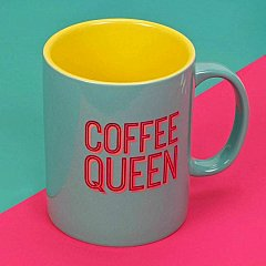 Neon Pop Mug - 'Coffee Queen'