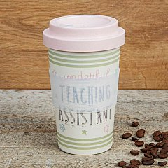 Love Life Bamboo Travel Mug 400ml - Teaching Assistant