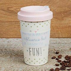 Love Life Bamboo Travel Mug 400ml - I'm A Bad Influence