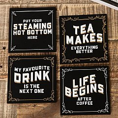 Set of 4 Brewmaster HD Coasters in Wooden Display