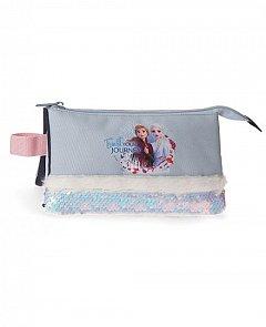 Penar tip borseta Frozen II Trust Your Journey, 3 compartimente, 22x5x12 cm