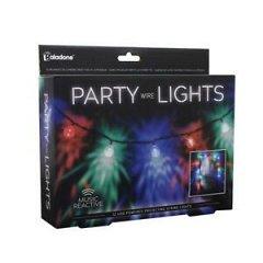 Luminite petrecere, multicolore, reactii la sunete