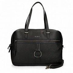 Geanta laptop 41cm,negru,Pepe Jeans Daphne