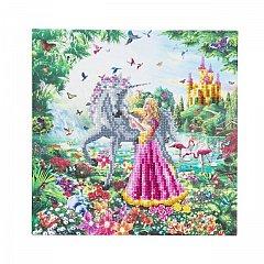 Tablou creativ cu cristale,Unicorn