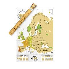 Harta Razuibila Scratch Map Europe