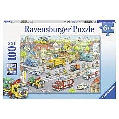 Puzzle Ravensburger - Utilaje in oras, 100 piese