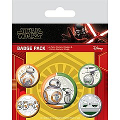 Set 5 insigne Star Wars: The Rise Of Skywalker (Droids)