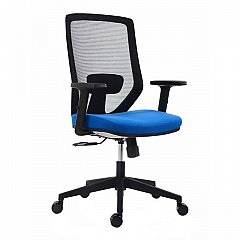 Scaun birou operational Zen, negru cu albastru