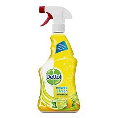 Spray dezinfectant multifunctional Dettol Trigger Power & Fresh, Sparkling Lemon & Lime Burst, 500 ml